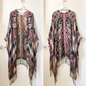 Abercrombie & Fitch shawl poncho scarf